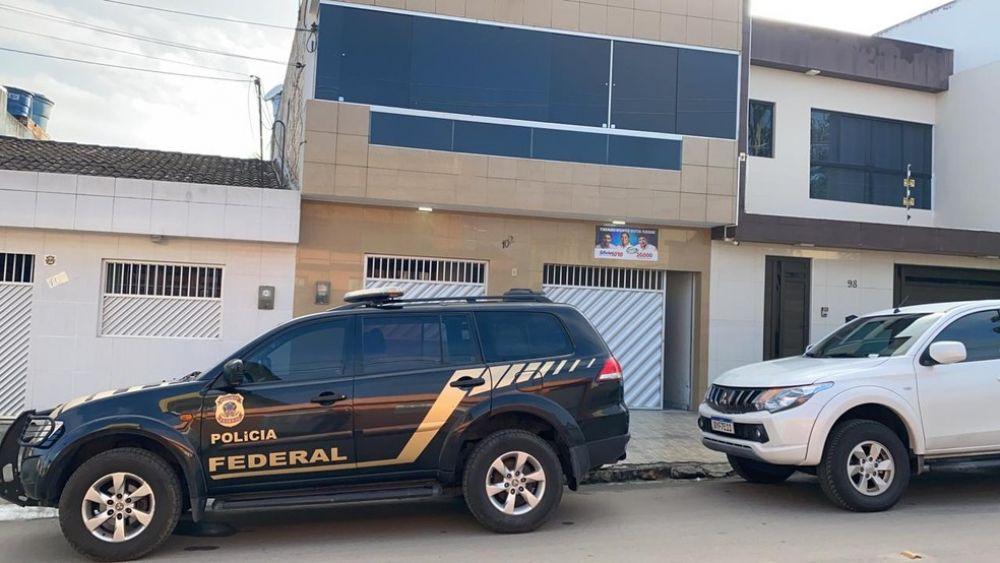Casa do prefeito de Agrestina — Foto: Polícia Federal/Divulgação