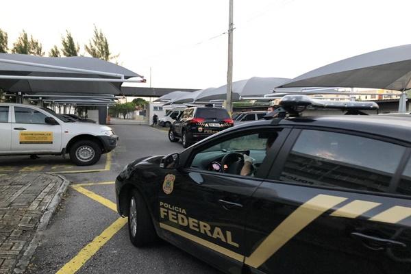 Policiais cumprem mandados em Fortaleza e São Paulo — Foto: Divulgação/PF