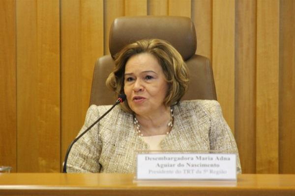 Ex-presidente do TRT-BA é afastada pela segunda vez; juíza é convocada