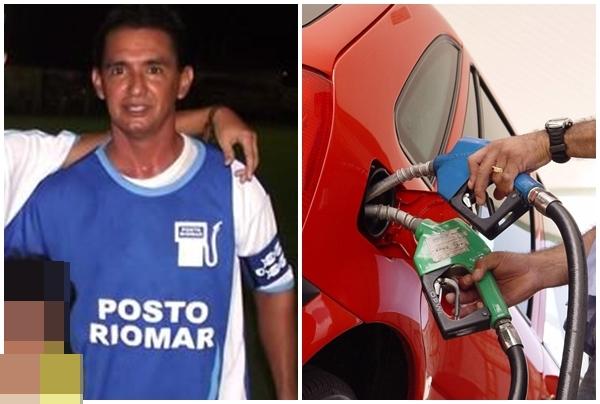 Na foto: o prefeito de Belmonte vestido a camisa do posto Rio Mar
